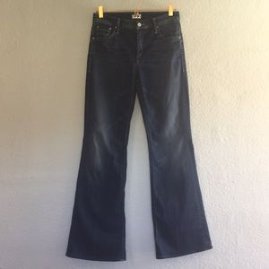 Mother the mellow drama high rise flare jeans